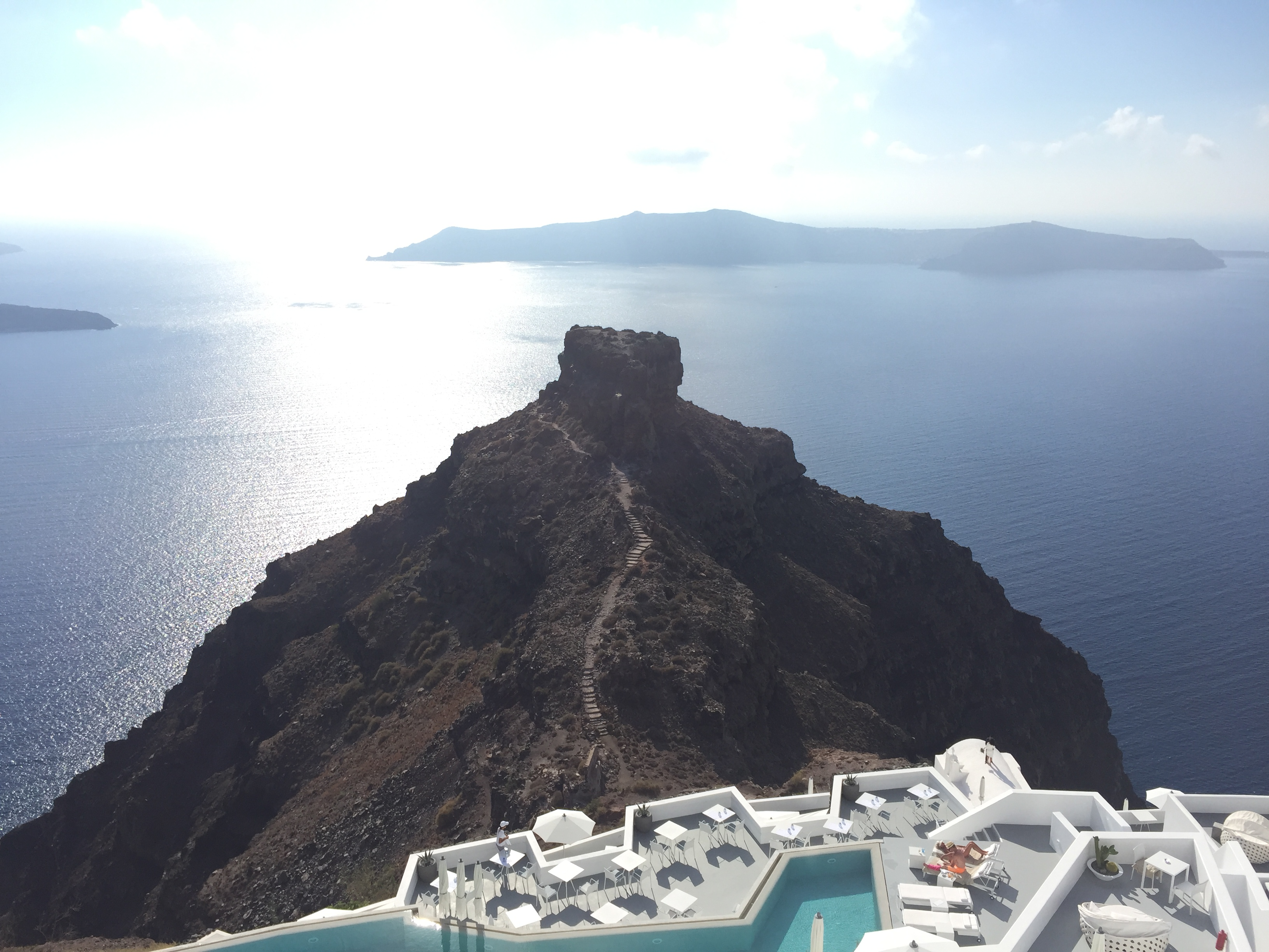 Santorini View - Alt Text