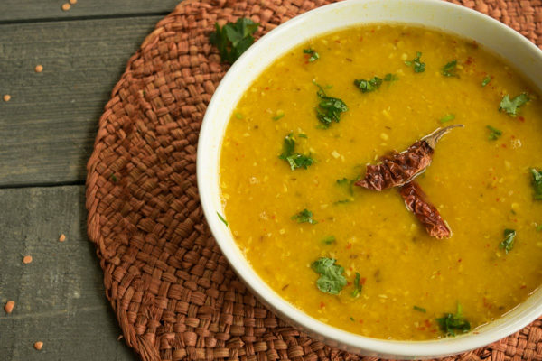 Simple garlicy Dal