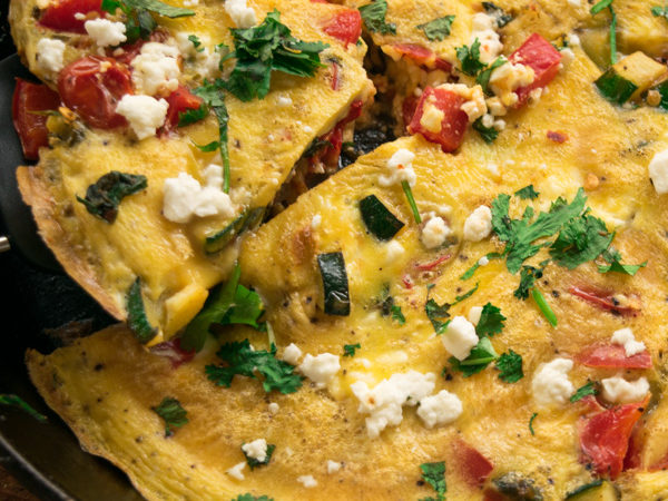 Veggie filled frittata