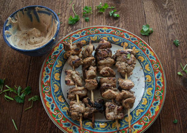 Za'atar chicken skewers with spicy tahini sauce-1