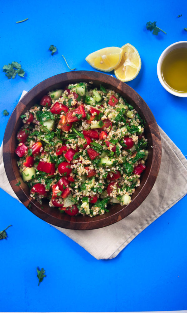 Healthy Mediterranean summer salad
