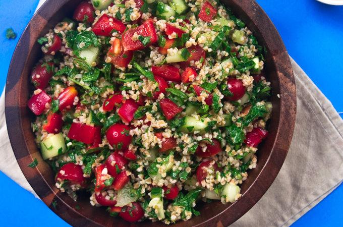 Healthy Mediterranean summer salad