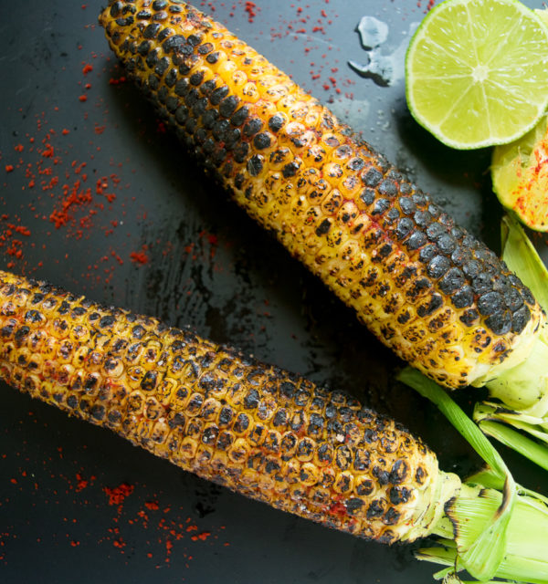 Grilled corn on the cob (Indian style)
