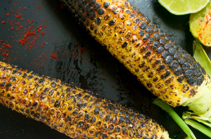 Grilled corn on the cob (Indian Street style)