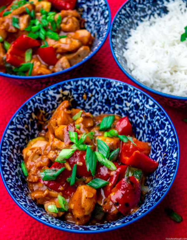 Asian fusion weeknight chicken stir-fry