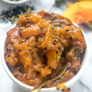 End of summer peach chutney 11