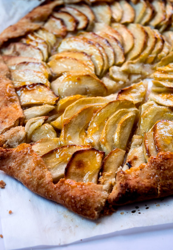 Rustic French style apple tart