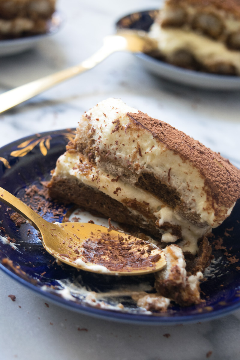 The Original Italian Tiramisu--super creamy, light, not overly sweet, not soggy, and has a surprisingly strong coffee punch. |www.cookeatlaugh.com