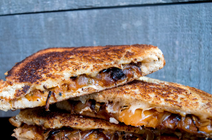 The ultimate sweet & savory grilled cheese