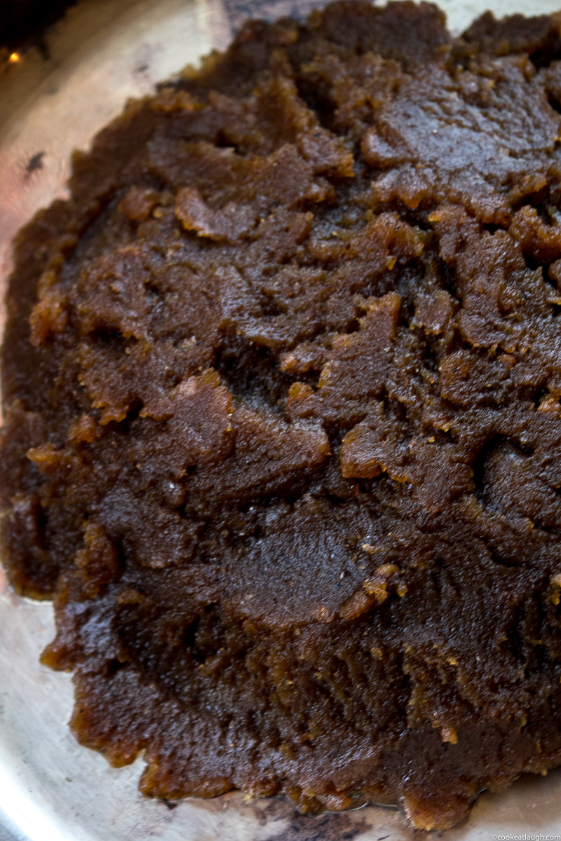 Grandma's atta ka halwa (Wheat flour halwa)! is a type of pudding made with equal parts of ghee, sugar, and wheat flour. It's rich, decadent, and easy to make. |www.cookeatlaugh.com-6