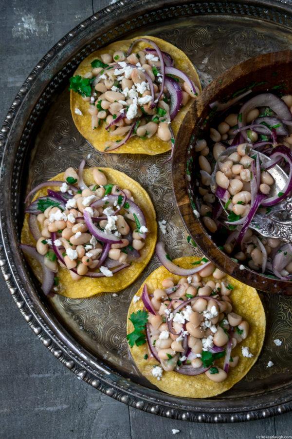 Healthy white bean tostadas (Oven Baked)