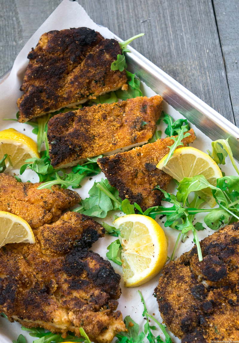 Spice crusted chicken schnitzel (Gluten-free) is healthier, lighter, and tasty alternative to a traditional schnitzel.-5-2