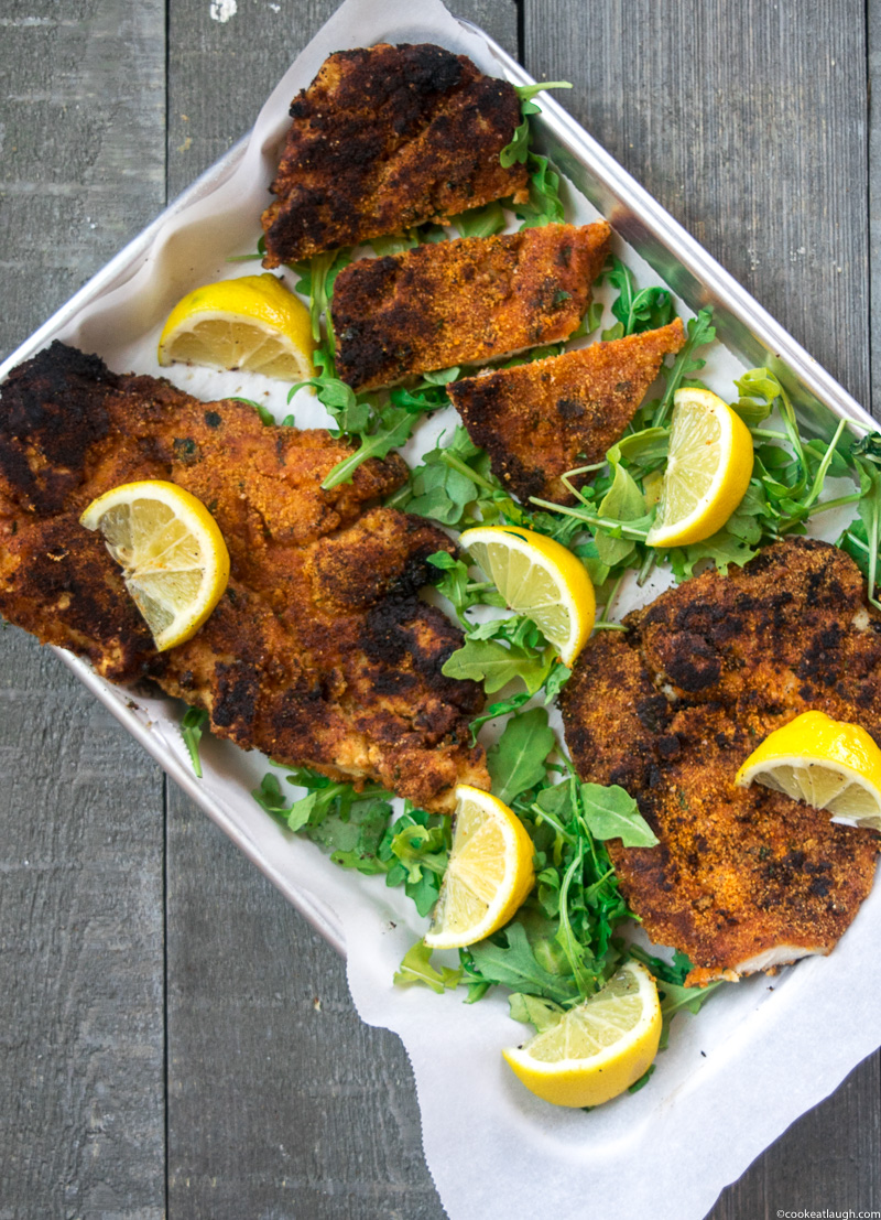 Spice crusted chicken schnitzel (Gluten-free) is healthier, lighter, and tasty alternative to a traditional schnitzel.-7-2