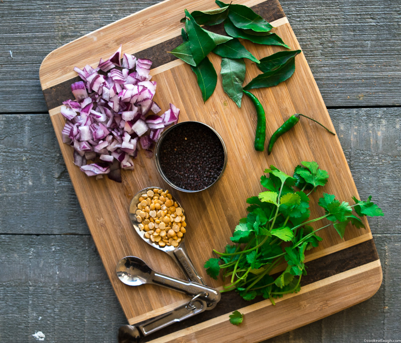 Upma (savory semolina porridge)-a delicious, nutritious, vegetarian, and vegan breakfast that can be made in 20 minutes.| www.cookeatlaugh.com-1