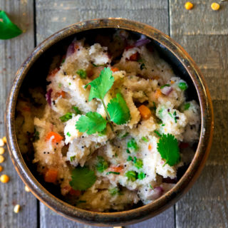 Upma (savory semolina porridge)-a delicious, nutritious, vegetarian, and vegan breakfast that can be made in 20 minutes.| www.cookeatlaugh.com-6