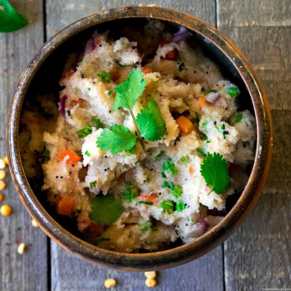 Upma (savory semolina porridge)