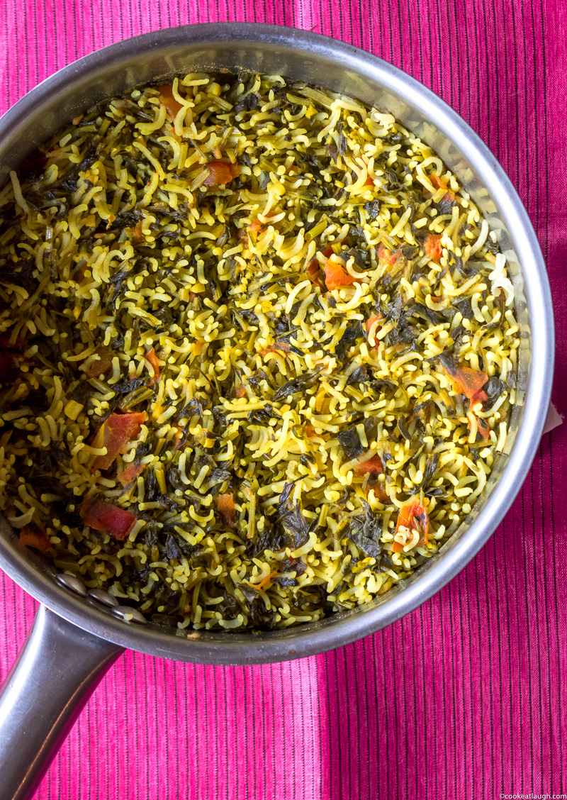 Fenugreek rice pilaf (Methi Chawal)-2