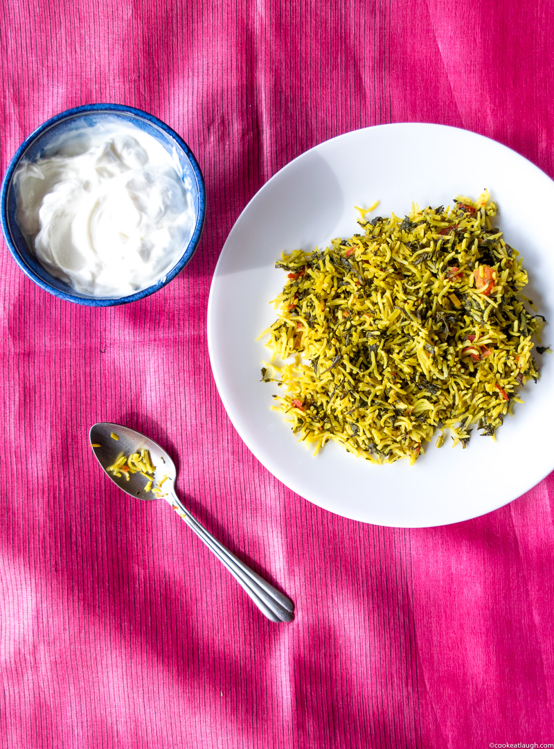 Fenugreek rice pilaf (Methi Chawal)-3