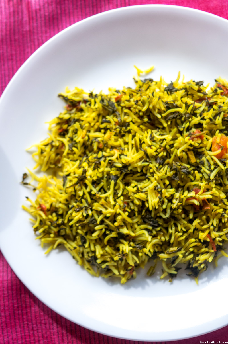 Fenugreek rice pilaf (Methi Chawal)-5