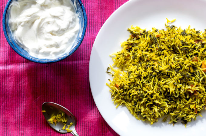 Fenugreek Rice Pilaf (Methi Chawal)