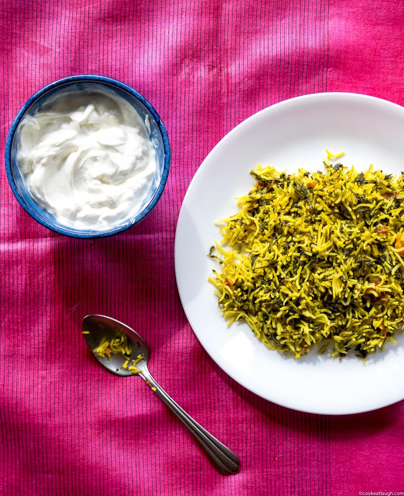 Fenugreek rice pilaf (Methi Chawal)-6