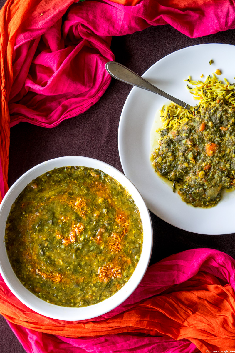 Lentil and vegetable stew (Sai Bhaji)-14