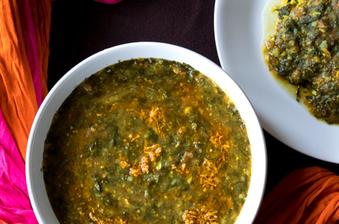 Lentil and vegetable stew (Sai Bhaji)
