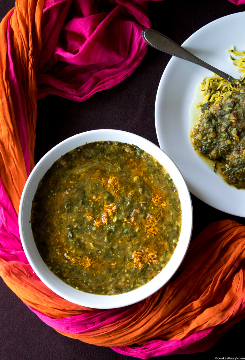 Lentil and vegetable stew (Sai Bhaji)-4