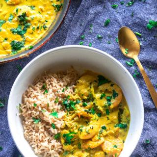 30-minute coconut shrimp curry -10