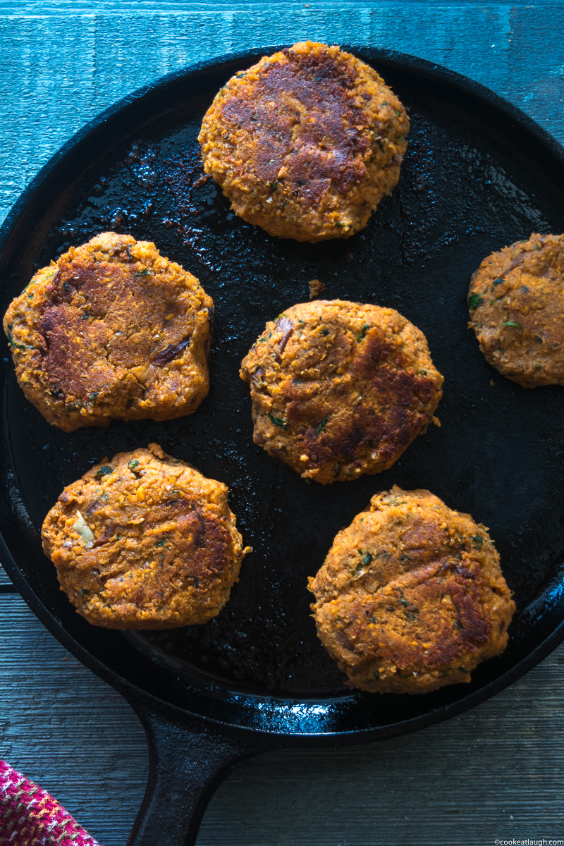 Smoky sweet potato patties-8