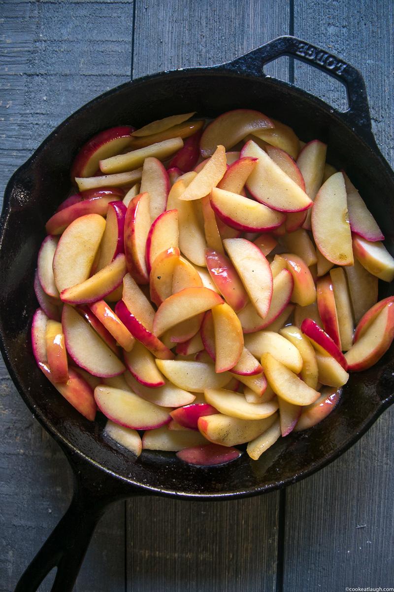 Skillet apple crisp-21
