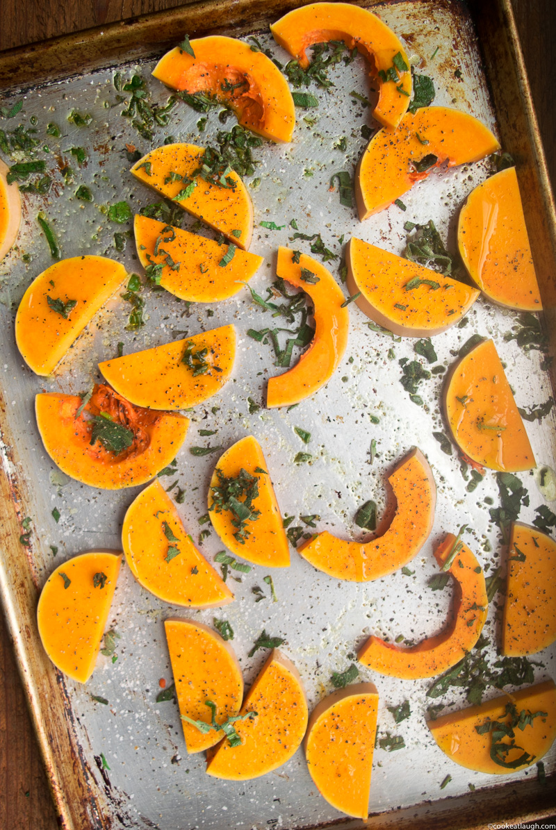 Roasted Butternut Squash with lentils, dates and fresh herbs-2