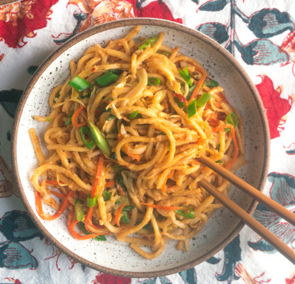 Indo-Chinese Vegetable Stir-Fry Noodles