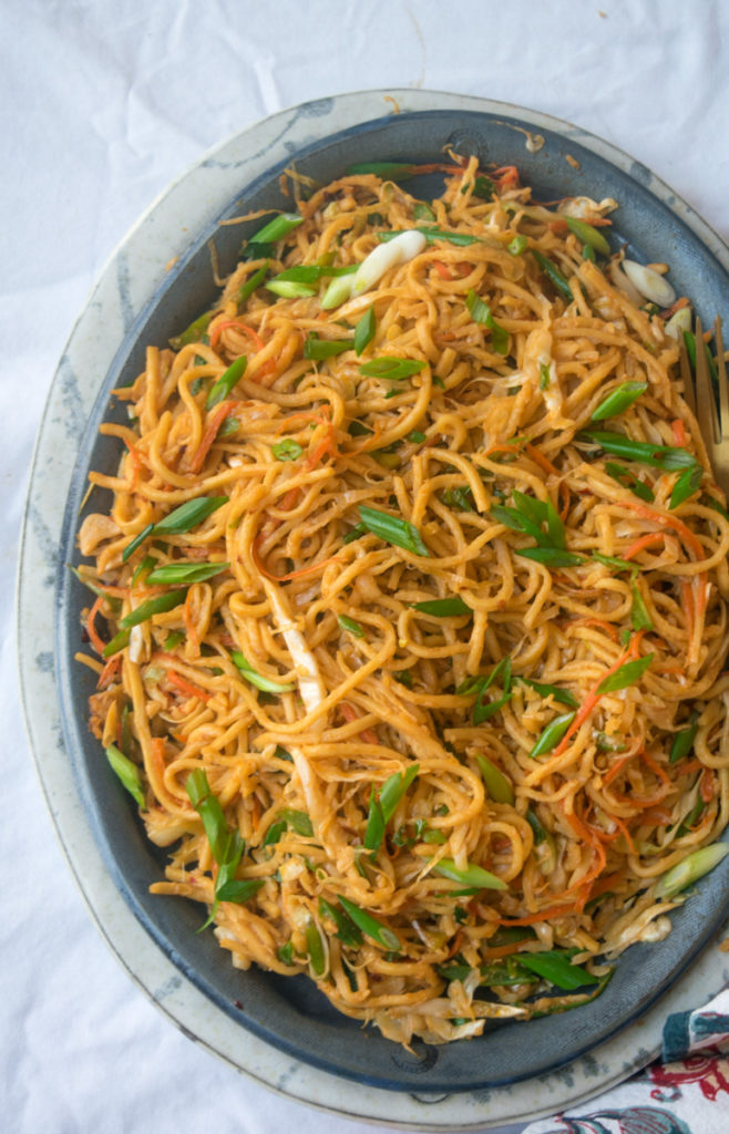 Indo-Chinese Vegetable Stir-fry noodles-10